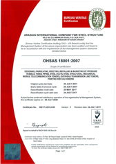 OHSAS 18001 for Steel Structure, Tower and Galvanizing